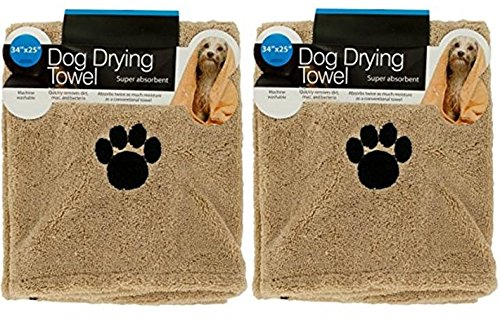 Hometown Basics Set of 2 Super Absorbent Dog Drying Towels w