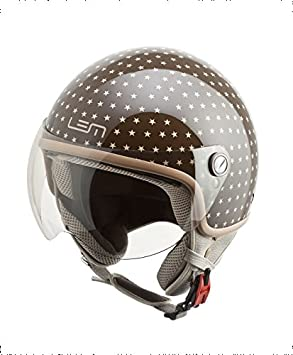 CASCO MOTO LEM- ROGER DUSTY BROWN (XS)