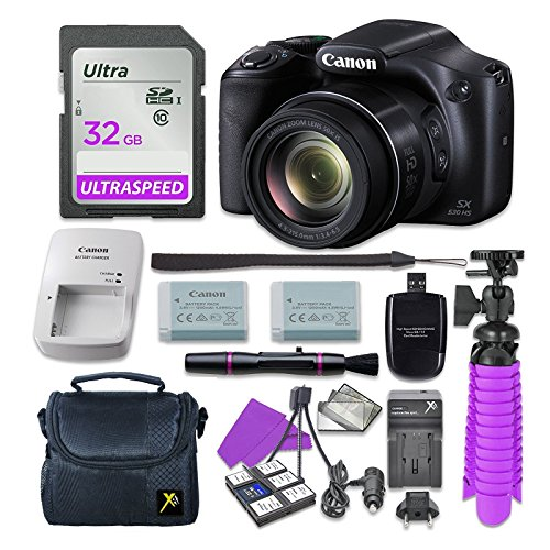 Canon PowerShot SX530 HS Digital Camera with 32GB SD Memory Card + Accessory (Canon Powershot Sd Series)