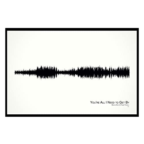 Amazon.com: You\'re All I Need to Get By - 11x17 Framed Soundwave ...