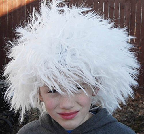 FX Mad Scientist White Wigs Einstein Child/Adult Costume Halloween School