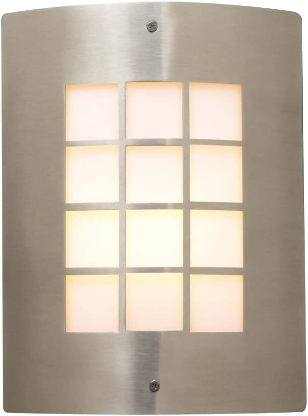 PLC Lighting 1876 SN Outdoor Fixture, Turin Collection, Satin Nickel Finish