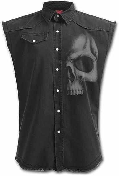 Spiral Shadow Skull Camisa trabajo sin mangas Negro 4XL: Amazon.es: Ropa y accesorios