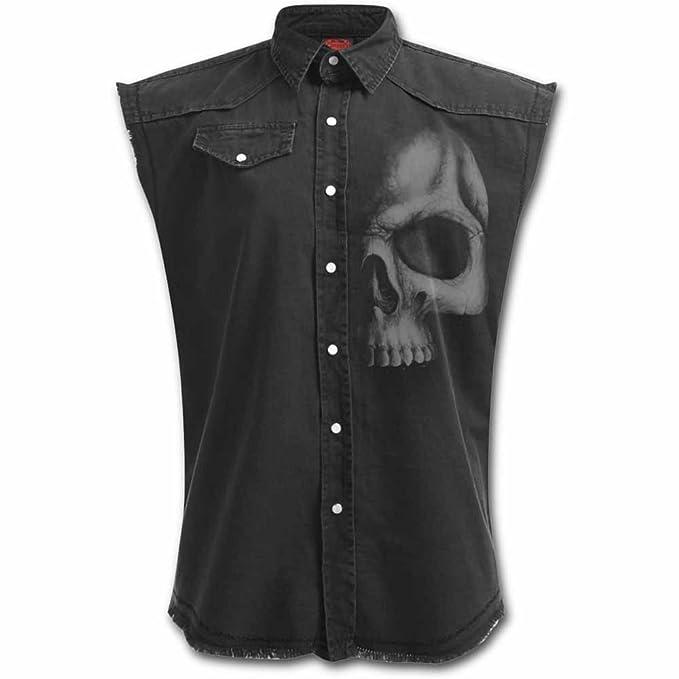 Solid Black Camisa trabajo sin mangas Negro Spiral 5xZ8m