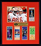 """49ers super bowl tickets - SF 49ers """"Team of the Decade"""" Super Bowl Ticket Display (Featuring Joe Montana & Jerry Rice) Framed"""