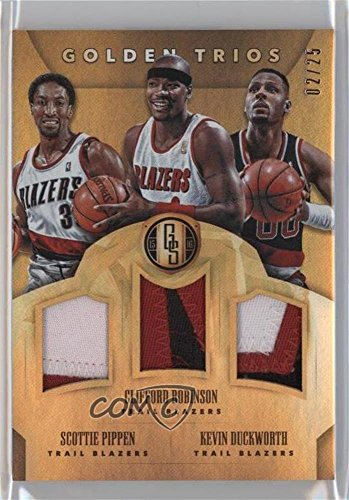 (Clifford Robinson; Kevin Duckworth; Scottie Pippen #2/25 (Basketball Card) 2015-16 Panini Gold Standard - Golden Trios #24)