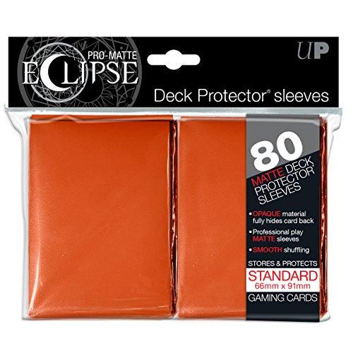 Pro Matte Eclipse Orange Standard Deck Protector Sleeves  80 Count Pack