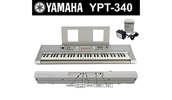 Yamaha YPT-200 340 (de PSR E343) Portable Keyboard en Plata ...