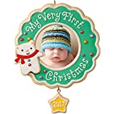 Hallmark Keepsake 2017 My Very First Christmas Picture Frame Dated Christmas Ornament