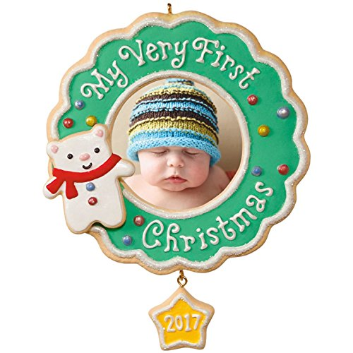 Hallmark Keepsake 2017 My Very First Christmas Picture Frame Dated Christmas - Ornament First 2017 Christmas