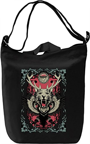 Wild Borsa Giornaliera Canvas Canvas Day Bag| 100% Premium Cotton Canvas| DTG Printing|