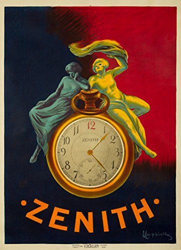 (Zenith Vintage Poster (artist: Cappiello, Leonetto) France c. 1912 (12x18 SIGNED Print Master Art Print w/Certificate of Authenticity - Wall Decor Travel)