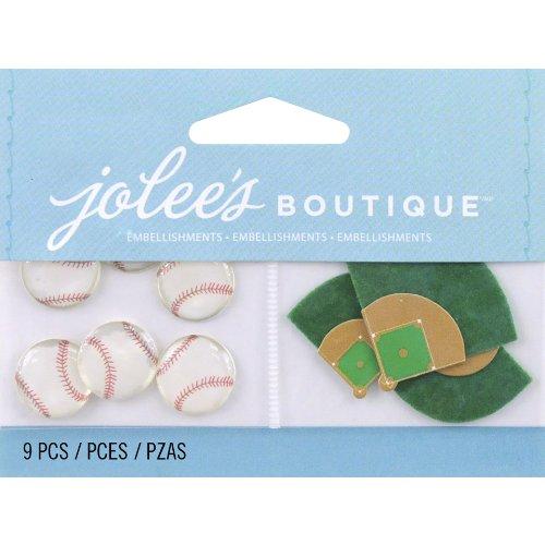 Jolee's Boutique Scrapbooking Embellishment, Baseballs (Jolees Spring)