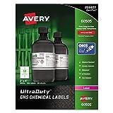 Avery UltraDuty GHS Chemical Labels for Laser Printers, Waterproof, UV Resistant, 2'' x 4'', 500 Pack (60505)
