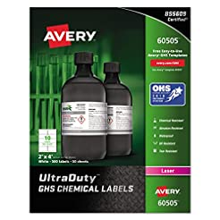 Avery UltraDuty GHS Chemical Labels for ...