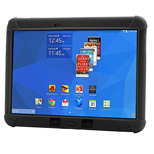 Samsung Galaxy Tab 4 Tablet Bundle, QUALCOMM:APQ8026/QSDX4, 1.2 GHz, 16 GB, SNAPDRAGON/IGP 10.1WXGA, Android-4.4, Black, 10.1
