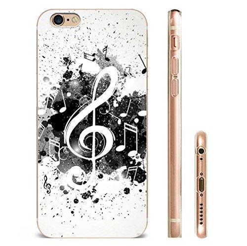 Iphone 7plus Hülle SUPER-CASE iphone cover Schwarz Weiß Musikalische Gemaltes iphone Hülle für IPHONE 7plus