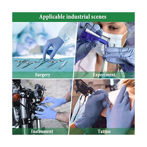 Slimerence Guantes médicos desechables de nitrilo, sin polvo, alimentos estructurados, industria química doméstica, caja… 10
