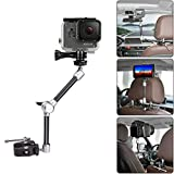 11 Inch Adjustable Articulating Israeli Friction Magic Arm w Super Clamp + Super Wide Phone Clip + Hi-Torque Knob Screw + Gopro Adapter For Gopro Sony DSLR Camera Action Camera Smartphone Cell Phone
