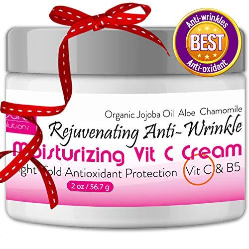 Anti Wrinkle Cream - Anti Aging Cream - Elida Skin Care Moisturizer for Face and Best Wrinkle Treatment - Rejuvenating Vitamin C Cream + Vitamin B5 + Antioxidants - Organic