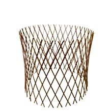 Master Garden Products Peeled Willow Circular Lattice Fence, 30 by 60-Inch, Light Mahogany Color