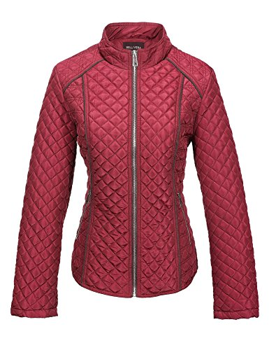 - Bellivera Women's Stand Collar Lightweight Gilet Quilted Puffer Padded Zip Jacket for Spring and Autumn