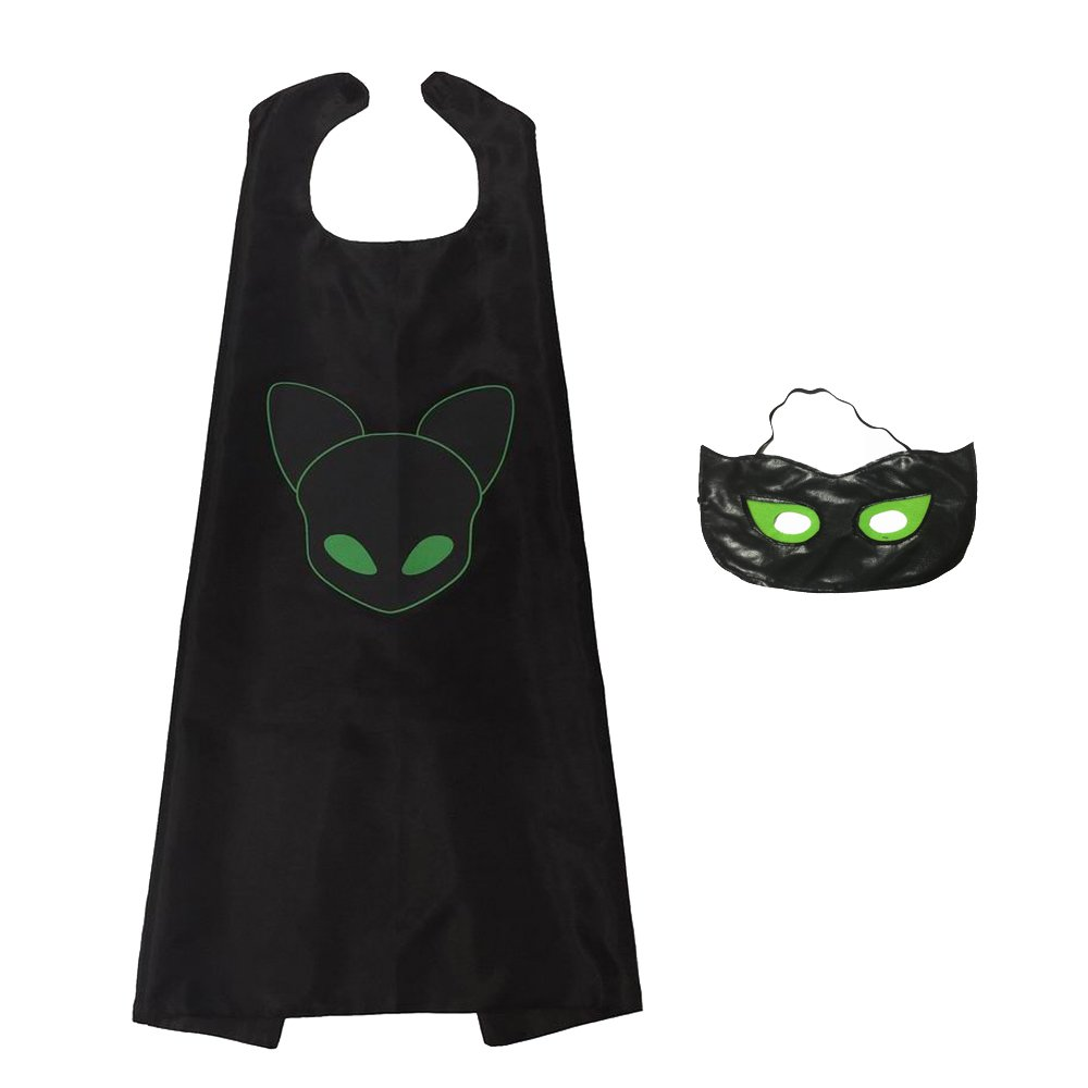 Ladybug Marinette Halloween Christmas Cosplay Costume Kids Mask Superman Cloak GREATCHILDREN