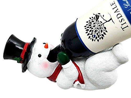 Christmas Joy Festive Season Classic Frosty The Snowman Wine Bottle Holder - Snowman Bottle