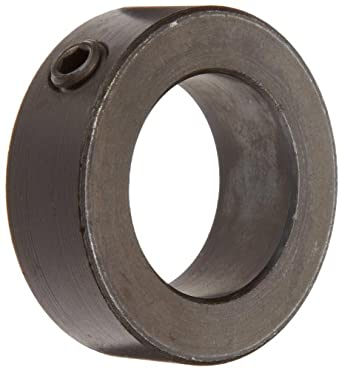 Shaft Collar, Set Screw Type, Black Oxide Finish, Steel, 13/16 Bore x 1 1/4 OD