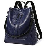 Unisex Classic Fashion Vegan Leather Backpack Casual Shoulder Bag Rucksack Waterproof