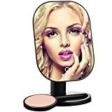 SURI Led Lighted Makeup Mirror Vanity Mirror Touch Screen with Natural Daylight Cosmetic Countertop Mirror with 20 Led Lights for women