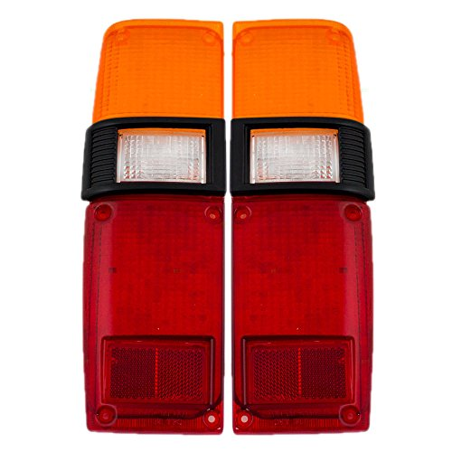 Driver and Passenger Taillights Tail Lamp Lenses Replacement for Toyota Pickup Truck 8156189121 8155189121