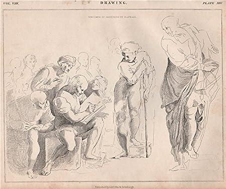 Dessin Echantillons De Esquisse De Raphael Angleterre 1860