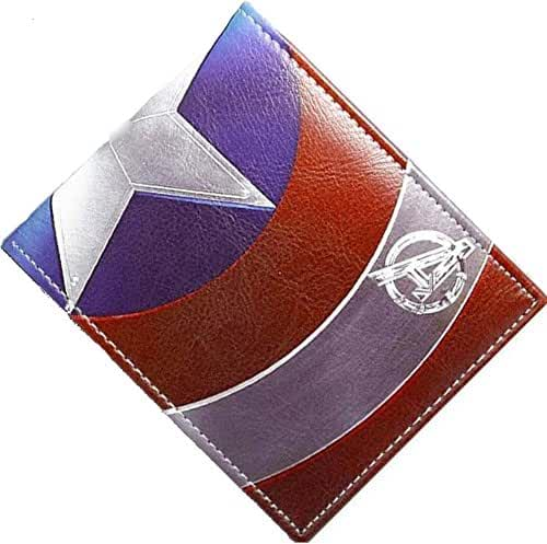 Marvel Comics Captain America Shield Logo Leather Look Bi-fold Wallet (Gift Box Included)