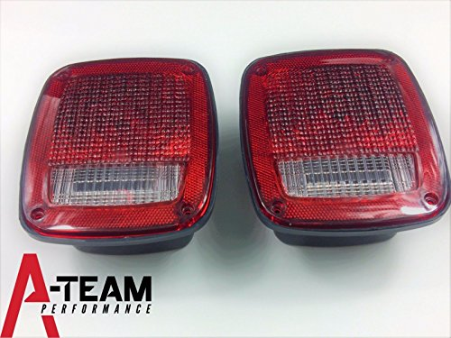 A-Team Performance ACRYLIC JEEP WRANGLER CJ YJ TJ REAR TAIL LIGHT W HOUSING TAILLIGHT LENS SET (Performance Acrylic)