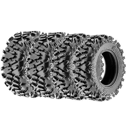 - TERACHE Atlas Premium 28x9-12 & 28x11-12 ATV UTV All Terrain 8 PR Tubeless Tires, [Set of 4]