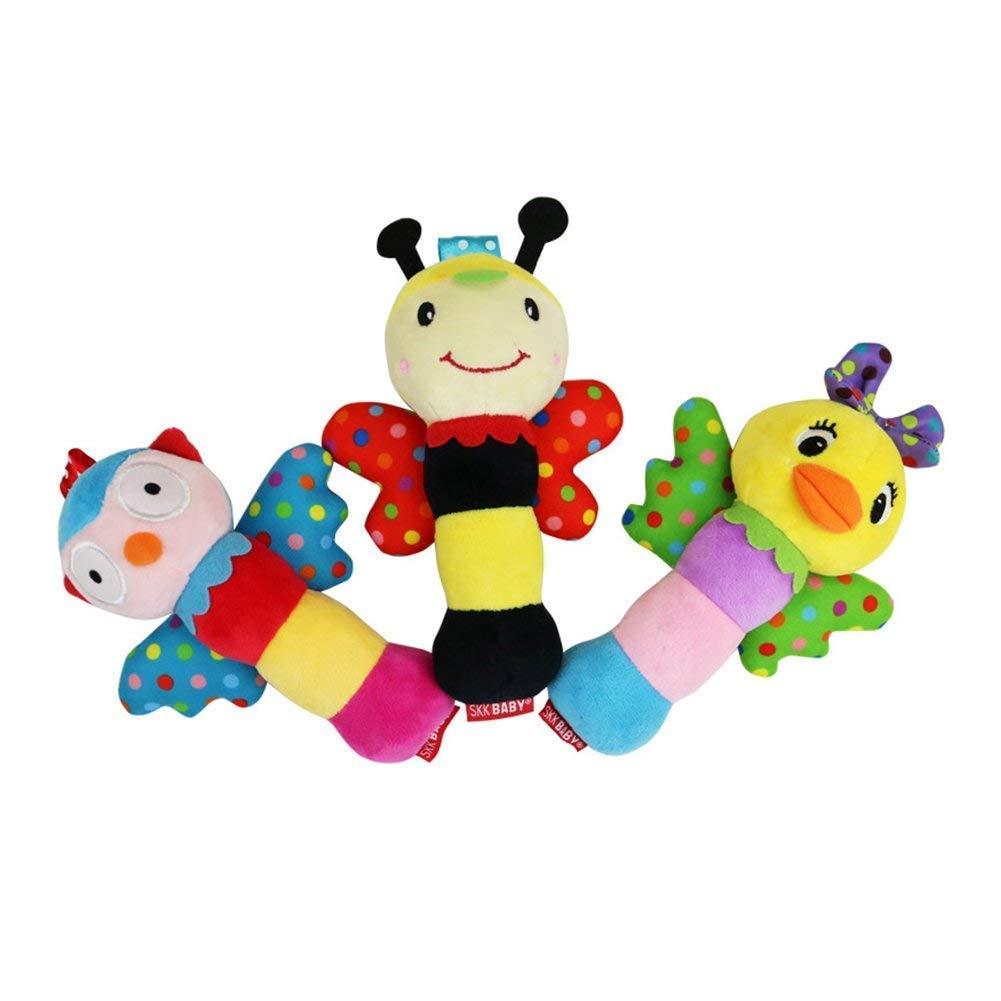 Giocattolo di peluche di alta qualità per bambini, a forma di anatra, con sonagli e sonagli