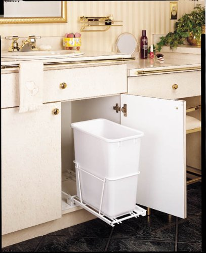 Rev A Shelf 20Qt Pull Out Waste Bin White