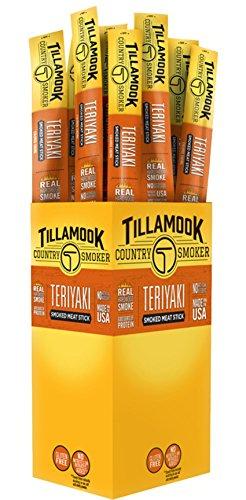 Tillamook Country Smoker Beef Jerky Teriyaki Stick 24-1oz Individually Wrapped Sticks. 1.5LBS Total Bulk