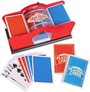 Deluxe Manual Card Shuffler (2-Deck) for Blackjack, Poker - Hand Crank Casino Card Shuffler Includes 2 Free Pl