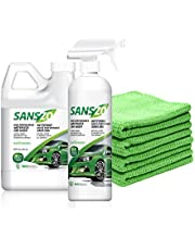 SansZo Waterless Car Wash Kit 88 oz.- Perfect for Car, Bike, RV, Aircraft, Plane & Boat - #1 Best Selling waterless wash product - Backed by One Drop Foundation