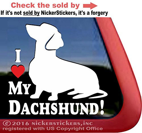 Dachshund NickerStickers Vinyl Window Decal