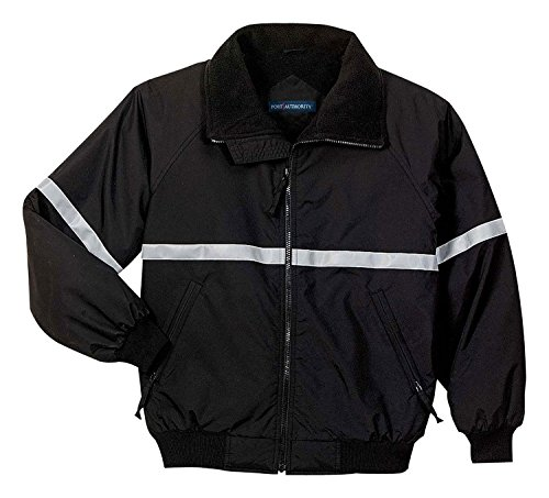 Port Authority J754R Challenger Jacket with Reflective Taping - True Black/ True Black/ Reflective - Large