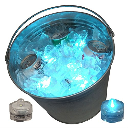 12 LED Ice Bucket Submersible Lights Glow Celebration New Year's Eve Party Teal by Unknown (Image #3)