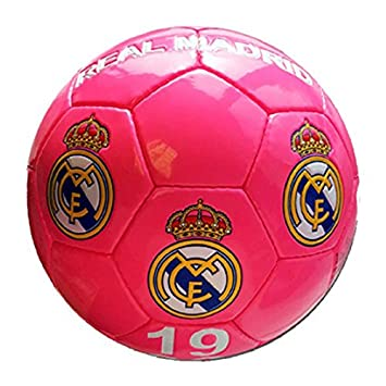 Real Madrid - Gran de balón de fútbol de Real Madrid, color rosa ...