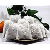 """Empty Woven Style Draw String Empty Tea Bags 2.75"""" X 3.5"""" Highest Quality (50 Pack)"""