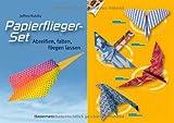 Papierflieger-Set: Abreißen, falten, fliegen lassen. Buch und bedrucktes Faltpapier