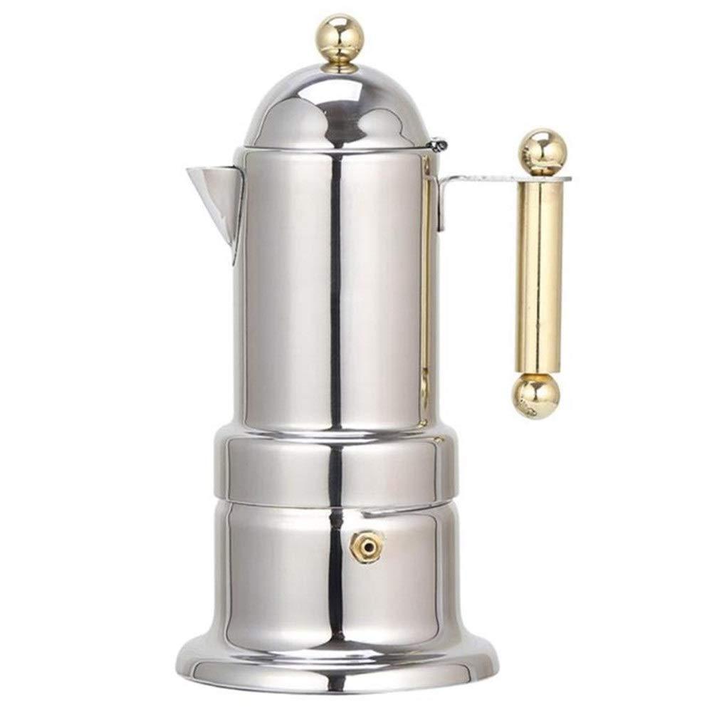 4 cups 200 ml stainless steel coffee pot Moka coffee pot teapot filter automatic coffee machine coffee machine by Yalian