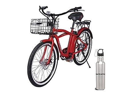 3154d2b623c Newport Premium Red --X-Treme Malibu Beach Cruiser Lithium Battery Electric  Bicycle