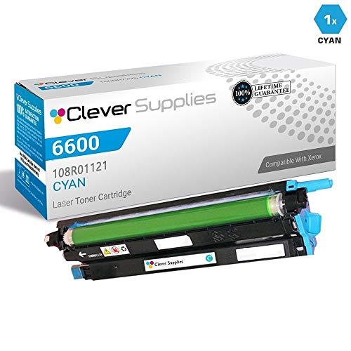 CS Compatible Drum Cartridge Replacement for Xerox 6600 108R01121 Cyan for Phaser 6600 Phaser 6600DN Phaser 6600N Phaser 6600YDN WorkCentre 6605 WorkCentre 6605DN WorkCentre 6605N -  Clever Supplies, CS-Xerox-6600-2nd-C